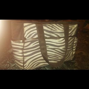 Zebra Print Diaper Bag